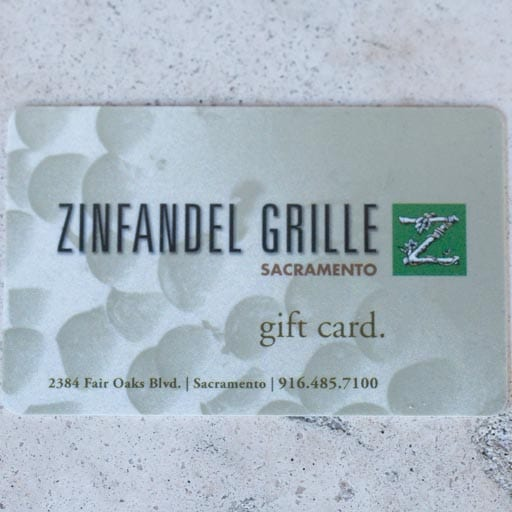Zinfandel Grille Gift Card